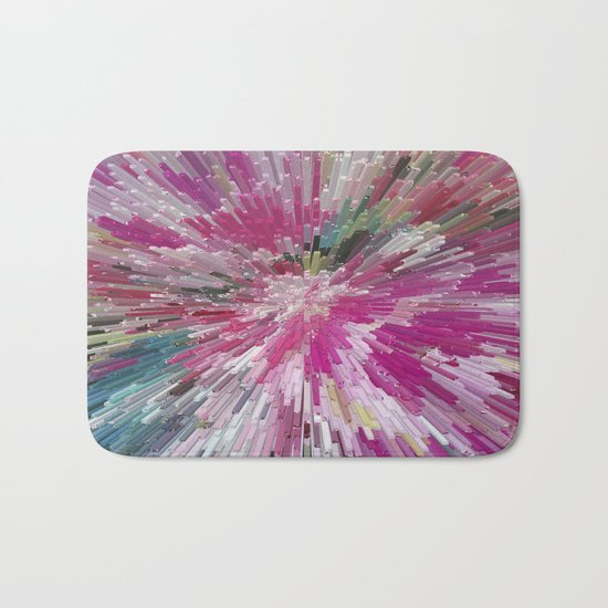 Abstract flower pattern 3 Bath Mat