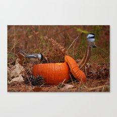 A Chickadee Thanksgiving Canvas Print