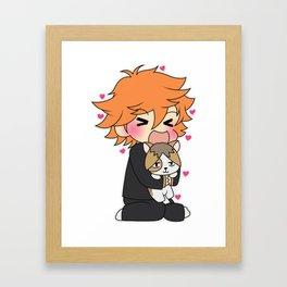 Kitty Kenma Framed Art Print