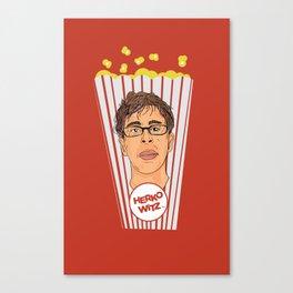 Herko-Witz hates popcorn. Canvas Print