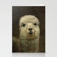 alpaca Stationery Cards featuring Alpaca  by Guna Andersone & Mario Raats - G&M Studi