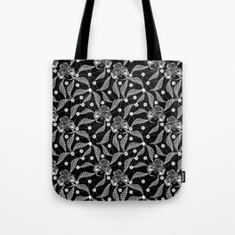 White vintage lace . Tote Bag