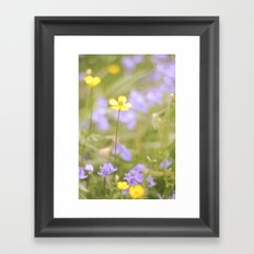 pretty florals Framed Art Print