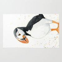 puffin Area & Throw Rugs featuring Puffin by Priscilla George