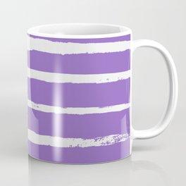 Irregular Hand Painted Stripes Purple Coffee Mug