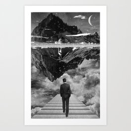 Black & White Collection -- Wandering Art Print
