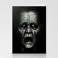 zombie Stationery Cards featuring Zombie by Havard Glenne