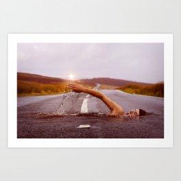 Swimmer XIX Art Print