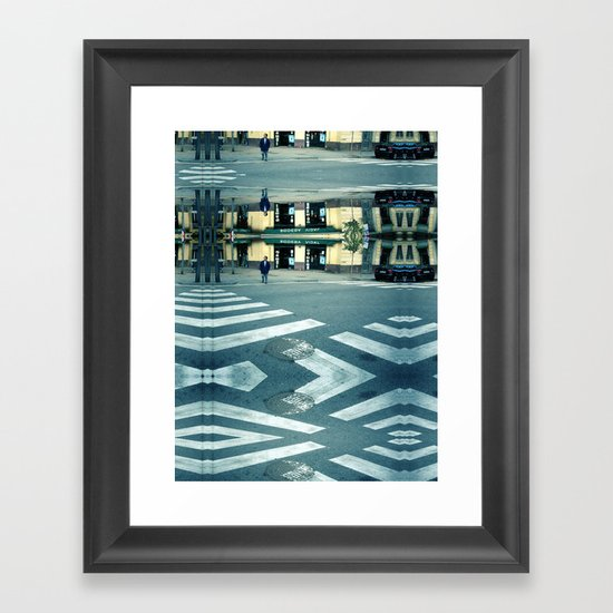 Saturday 3 November 2012: the path is clear Framed Art Print