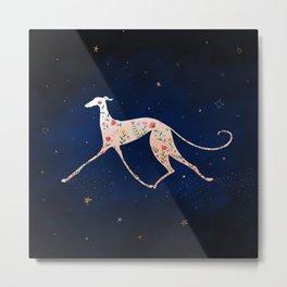 Greyhound In The Night Metal Print