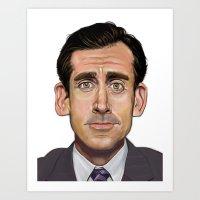 michael scott Art Prints featuring Michael Scott-World's Best Boss by Dylan Holden