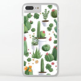 Succulent Cacti Clear iPhone Case