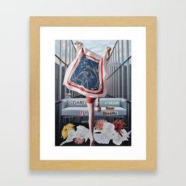 Run Dance Fly Framed Art Print