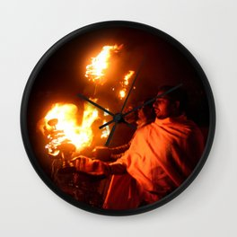Holly Fire Wall Clock