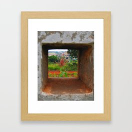 Beauty in The Square Framed Art Print