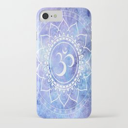 Om Mandala Lavender Periwinkle Blue Galaxy Space iPhone Case