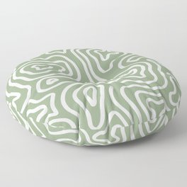 Topographic Abstract | Sage Floor Pillow