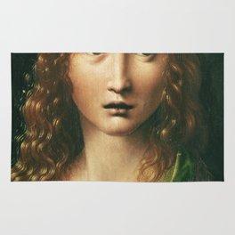 Leonardo Da Vinci - Head Of The Saviour . Rug