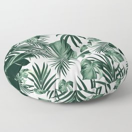 Tropical Jungle Leaves Pattern #4 (2020 Edition) #tropical #decor #art #society6 Floor Pillow