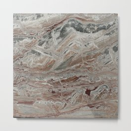 Arabescato-Orobico Fine Marble Metal Print