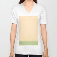 sailing V-neck T-shirts featuring Sailing by Maite Pons