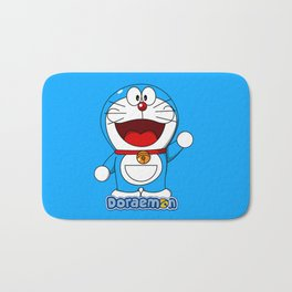 Doraemon cute smile 3 Bath Mat
