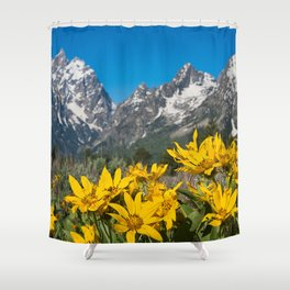 Grand Tetons Mountains National Park Wyoming Shower Curtain