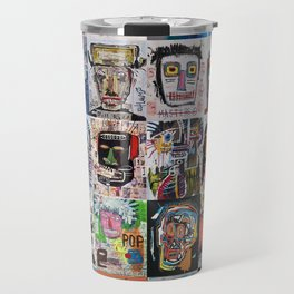 Basquiat Faces Montage Travel Mug