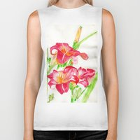hot pink Biker Tanks featuring Hot Pink by Kate Havekost Fine Art