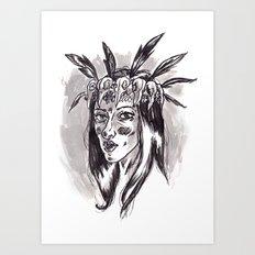 Hipster Shaman Art Print