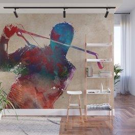 golf player sport art #golf #sport Wall Mural