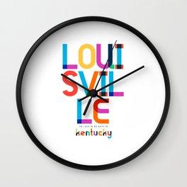 Louisville Kentucky Mid Century, Pop Art, Wall Clock