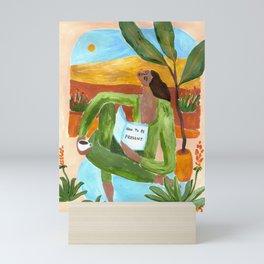 How to be present Mini Art Print