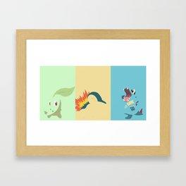 PKMN Johto Starters Framed Art Print