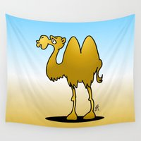 camel Wall Tapestries featuring Camel by Cardvibes.com - Tekenaartje.nl