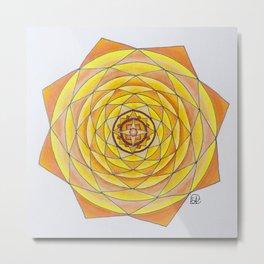 Gypsy Rose Mandala Metal Print