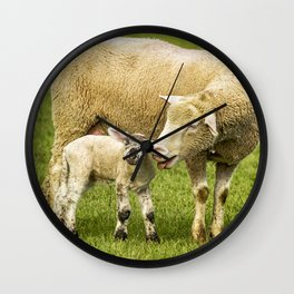Mama Had a Little Lamb Wall Clock