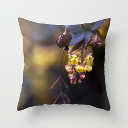 Barberry Flowers Throw Pillow
