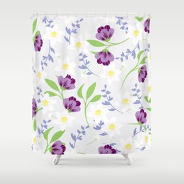Spring floral pattern Shower Curtain