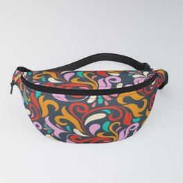 Damask floral pattern Fanny Pack