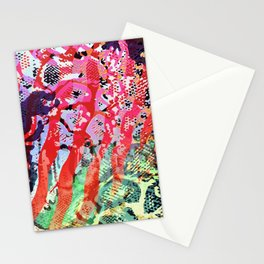 skin mesh in red mood Stationery Cards