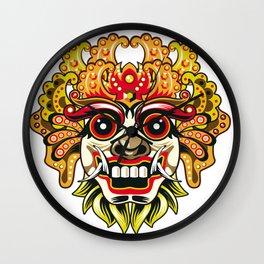 leak bali mask vector chiefs face Wall Clock