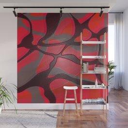 Retro Pop Art Abstract Red Gloss Wall Mural