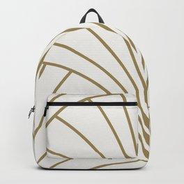 Diamond Series Floral Burst Gold on White Backpack