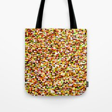 Noise pattern - yellow/red Tote Bag