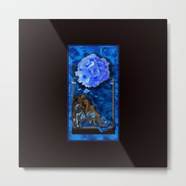 """VisibleMan, """"Venus, too, triptych - Charley's Sweet Black Angel and a World of Their Own"""" Metal Print"""