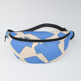 Shopping Blue Poloshirts Fanny Pack
