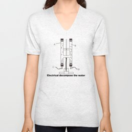 Electrical decompose the water Unisex V-Neck
