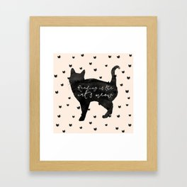 Reading Is The Cat's Meow Framed Art Print