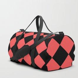 Rhombus (Black & Red Pattern) Duffle Bag